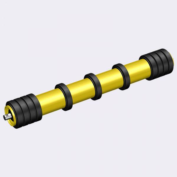 rubber disc return roller