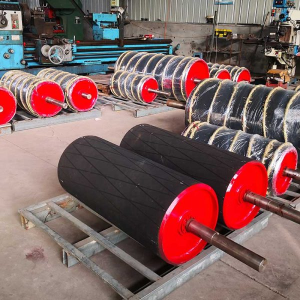 rubber lagging conveyor pulley, drive pulley